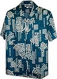 Pacific Legend Polynesian Honu Men's Hawaiian Shirt 3856Blue 3XL
