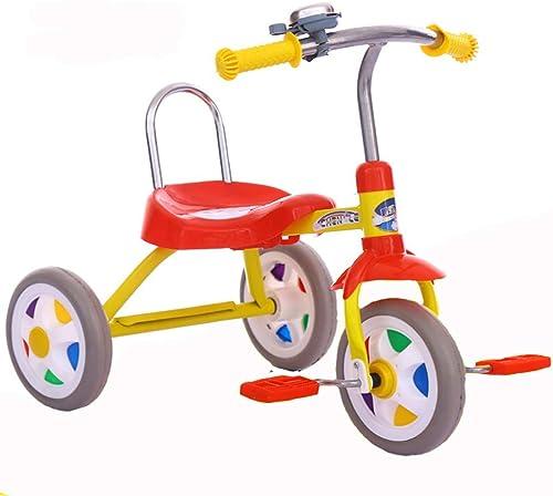 Kinder dreirad fahrrad 1-3 jahre alt kinderwagen yo auto kind licht tragbare einfache spielzeug kinderwagen gelb (Farbe   Gelb)