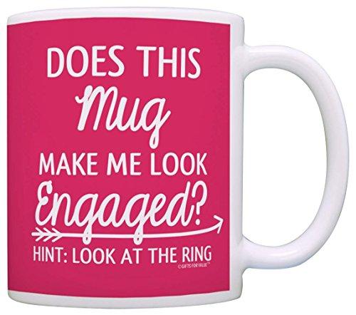 N\A ¿Este Anillo me Hace lucir comprometida? Taza de Regalo Taza de café Taza de té Rosa