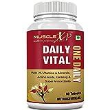 MuscleXP Daily Vital Multivitamin With 25 Vitamins & Minerals, 5 Super Antioxidants