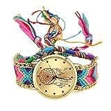 Bonjouree Bracelets Femmes Montres Vintage Faits à La Main Pour Cadeau d'amis (A)