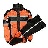 NexGen Men's Rain Suit (Black/Orange, X-Large)