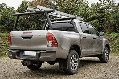 1 Stück Schwarzer Ladder Rack Gepäckträger Trägersystem Zuladung Dachträger universell Pickup Kanu Bootsträger~