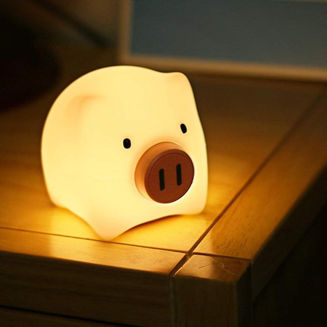 促進するアジア精緻化ナイトライト シリコーンナイトライト豚ガールハートランプ充電式スリープライト、ギフトとして使用することができます HMMSP