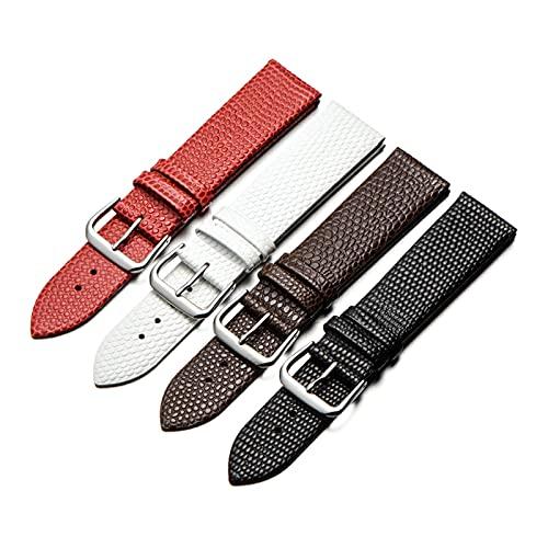 10/12/14/16/18/20mm Les femmes en cuir véritable remplacement du bracelet montre souple plat Pin fermoir Bracelet Bracelet Bracelets, 18mm