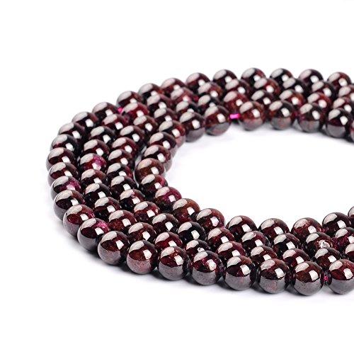 Perles en grenat naturel pour la confection de bijoux 2 mm, 3 mm, 4 mm, 6 mm, 8 mm, 10 mm, 12 mm, 8 mm