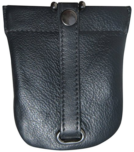 Josephine Osthoff Handtaschen-Manufaktur große Leder Schlüsselglocke Nachtblau