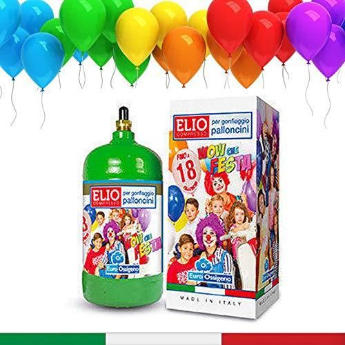 KREA ITALIA Bombola di Elio USA e Getta -18 Palloncini Inclusi
