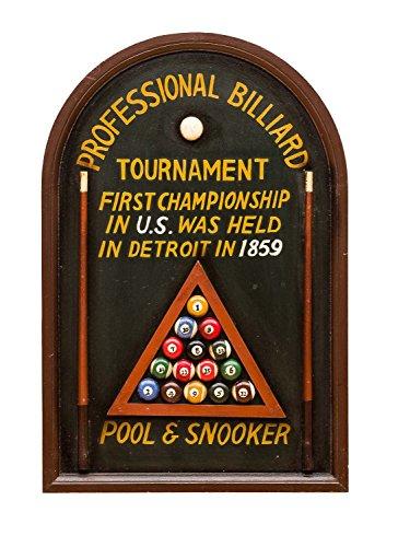 aubaho 3D Billard Gemälde Deko Bild Tafel Snooker Pool Billiard Wandbild Coe Queue