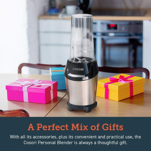 COSORI Blender for Shakes and Smoothies, 10-Piece 800W Auto-Blend High Speed Smoothie Blender/Mixer for Ice Crushing Frozen Fruits, 2x 24oz Cups, 1x 12oz Cup, 2-Year Warranty, ETL Listed/FDA Compliant