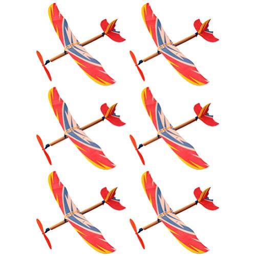 jojofuny 6Pcs Fai da Te Aereo Giocattoli di Volo Aliante Aerei Bambini Educativi Giocattolo Giocattoli del Giardino (Stile Casuale)
