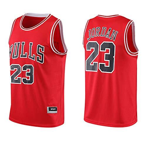 Dybory Camisetas De Baloncesto para Hombre De La NBA Michael Jordan # 23, Chaleco Sin Mangas De Baloncesto De Los Chicago Bulls, Camiseta Clásica para Gimnasio,Rojo,S