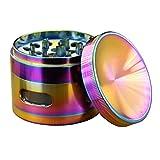 Engshwn Nuovo Design Premium lega di zinco Colorato Polline Spezia Tabacco Sgranatore a base di erbe con piccoli Windows 4 Pezzi 63mm