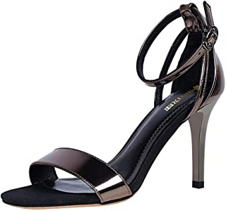 cc395fa0090dc3 ZFAFA Donna Scarpe col Tacco Peep Toe Slingback Sandali Cinturino Caviglia  Fibbia Moda Club Partito Sexy