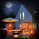 Nekteck Outdoor Torch Light with Star Design, Flickering Dancing Flames, Waterproof Solar Powered LED Landscape Decoration for Yard Pool Patio Garden Pathway Walkway 4 Pack Lit at Night