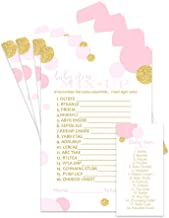 Paper Clever Party Pink and Gold Baby Shower Word Scramble Game - 25 Pack