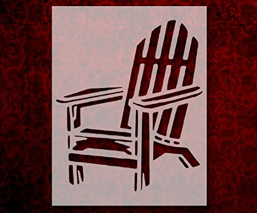 Adirondack Beach Chair Outdoor Furniture 8.5 x 11 Inches Stencil (60)