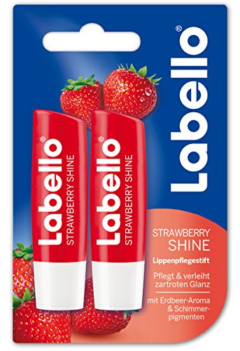 Labello Lippenpflege Strawberry Shine, 6er Pack (6 x 10 ml)