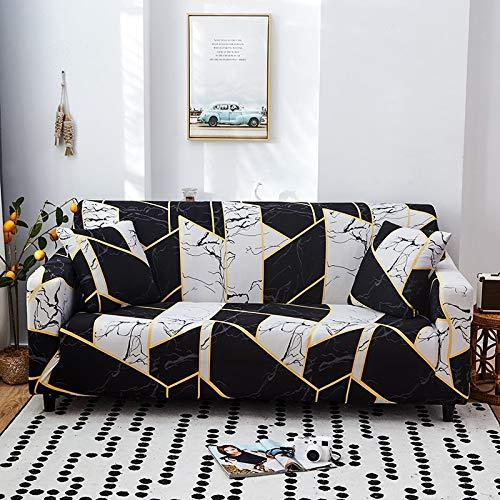 Funda de sofá geométrica elástica Fundas de sofá universales Funda de Esquina de sofá seccional para Muebles Sillones A12 3 plazas