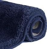 Jojobnj Tappeti da Bagno a Pelo Lungo Antiscivolo, Tappetino Lavabile in Lavatrice con Microfibre Morbide Assorbenti per Vasca, Doccia e Bagno
