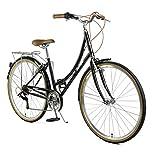 Retrospec Beaumont-7 Seven Speed Lady's Urban City Commuter Bike, Black, 38cm/Small