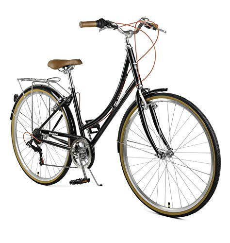 Retrospec Beaumont-7 City Bike Seven Speed Lady's Hybrid Urban Commuter Bicycle; Eggshell, 42cm