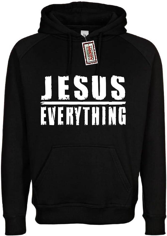 Noizy Clothing Co. Jesus Over Everything Christian Hoodie Black Sweatshirt