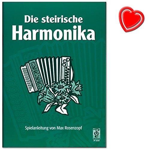 Die Steirische Harmonika - Einführung in das Musizieren mit der Steirischen Harmonika von Max Rosenzopf - Lehrmaterial mit bunter herzförmiger Notenklammer