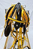 Aces Equine QUICKHITCH HORSE CART DRIVING HARNESS BIOTHANE YELLOW & BLACK SHETLAND SIZE