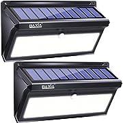 BAXIA TECHNOLOGY Solar Lights Outdoor, Wireless 100 LED Solar Motion Sensor Lights, Easy Install Waterproof Security Lighting for Front Door, Back Yard, Steps, Garage, Garden (2000LM, 2PACK)