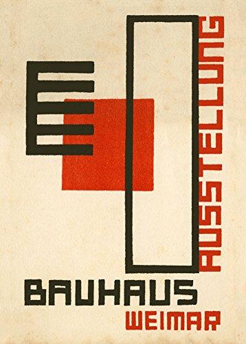 Kunstdruck, Vintage-Bauhaus-Ausstellung, Weimar Ausstellung, von Kurt Schmid, 250 g/m², glänzend, A3, Reproduktion
