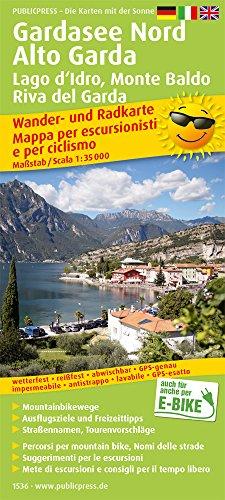 Gardasee Nord, Alto Garda, Lagod'Idro, Monte Baldo, Riva del Garda: Wander- und Radkarte mit Ausflugszielen & Freizeittipps, wetterfest, reißfest, ... 1:35000 (Wander- und Radkarte / WuRK)