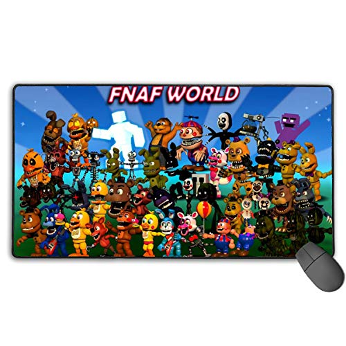 All Characters FNAF World Poster Premium-Textured Ergonomic Laptop Mouse Pad with Stitched Edges, Big Durable Non-Slip Mouse Mat for Laptop, Computer & PC, Funny Gaming Mousepad for Teens Working