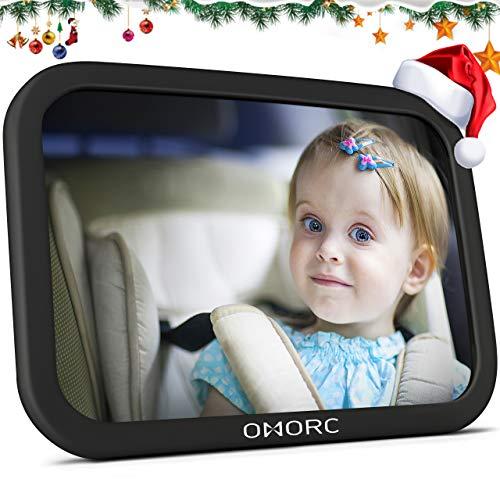 OMorc Miroir Auto Bébé Rétroviseur de Surveillance Bébé pour Siège Arrière Miroir de...