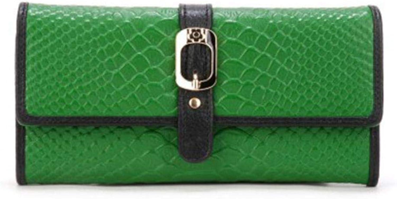ZhiGe Portmonee Damen Frauenbrieftasche Damenbörse,Damen Leder Geldbörse Schnalle Prozent Lange Brieftasche 19,2  3  9,5 cm B07L2KKZFM