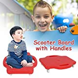 Gorgebuy Tabla de Scooter para niños con Asas de Seguridad - Seguridad para niños Tabla de Scooter de plástico Asiento de Scooter con Ruedas giratorias para niños, niñas y niños, 16 Pulgadas