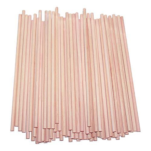 Palitos de Madera (100 Piezas) - 30cm x 7mm, Natural Redondo Palitos - Palillos de Madera para Bricolaje Proyectos de Manualidades, Decoraciones para Bodas y Fiestas