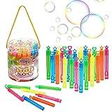 Ulikey 40 PCS Pompas de Jabón de 5 Colores Varitas, Varita de Burbuja, Tubos para Crear Burbujas de Jabon, Surtidos Pompas Jabon para Favores De Fiesta, Juguetes para Niños Exterior Interior