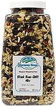 Harmony House Foods Chili Mix, Black Bean Chili, 15 Ounce Quart Size Jar
