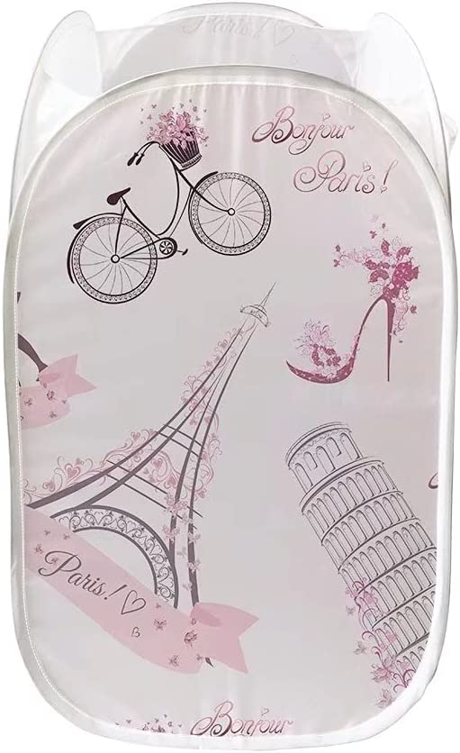 Youngerbaby Eiffel OFFicial store Tower Print Cloth Quality inspection Foldable Hampers Pop-up Lau