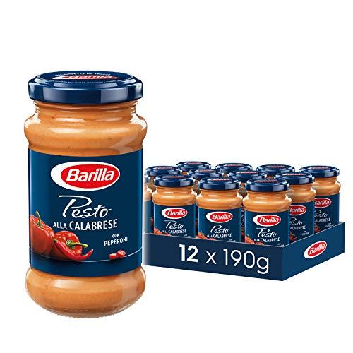 Barilla rotes Pesto alla Calabrese – Pesto 12er Pack (12x190g)