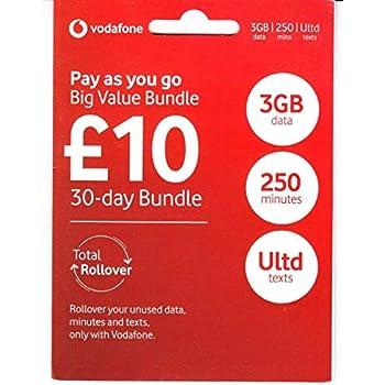 Amazon Com Vodafone Uk Pay As You Go Sim Card Electronics