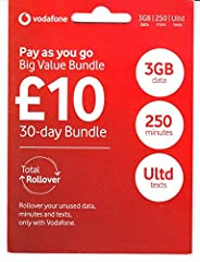 ✔️ TRIPLE DATA – Unwrap 3 times more data this Christmas & beyond (promotion NOW ends 31 March 2020). Get a 30 days PAYG bundle with 9 GB data for the price of 3GB, with 250 UK/EU minutes and unlimited UK/EU texts for only £10. THIS SIM CARD COMES WI...