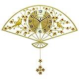 Reloj de pared, reloj de pared silencioso for no tictac, reloj de pared decorativo, Sala reloj de pared moderna de la decoración del reloj de cuarzo de moda dormitorio Silencio del hogar ( Color : B )