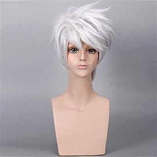 YYCHER Anime Cosplay Wigs Anime Wig Naruto Hatake Kakashi Silver and White Short Hair Cosplay Wig