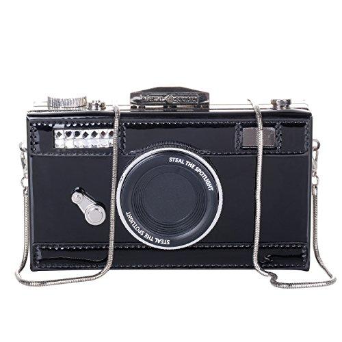 QZUnique Damen Handtasche / Handtasche aus PU-Film, Kamera-Form, Snapshot, lässig, Crossbody