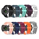 ZSZCXD Band for Garmin Forerunner 45/Forerunner 45s Watch, Silicone Wristband Replacement WatchBand Strap for Garmin Forerunner 45/Forerunner 45s Smartwatch (10 Colors)