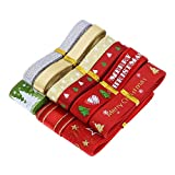 BOSSTER Cinta Navidad 9 Piezas 18 Yardas Cintas de Grosgrain Multicolor Multisize Ribbon Tela para Embalaje Regalo Hogar DIY Manualidades Lazos