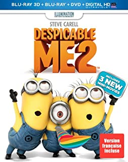 Despicable Me 2 3D - Détestable moi 2 [Blu-ray 3D + Blu-ray + DVD + Ultraviolet] (Sous-titres français) (B00DMCRJ6G) | Amazon price tracker / tracking, Amazon price history charts, Amazon price watches, Amazon price drop alerts
