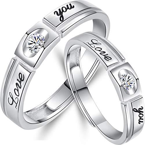 JERKKY Kreative Ringe, Herren und Damen versprechen Ringe für Sie und Ihn